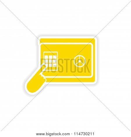 stylish sticker on paper pin code password safe