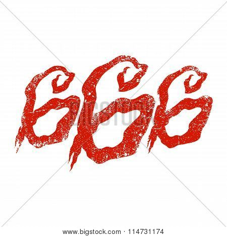 666 Graphic Lettering