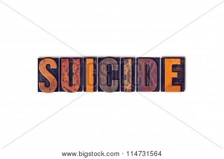 Suicide Concept Isolated Letterpress Type