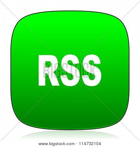 rss green icon for web and mobile app