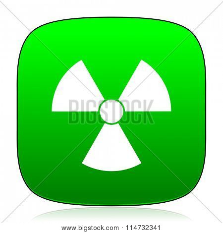 radiation green icon for web and mobile app