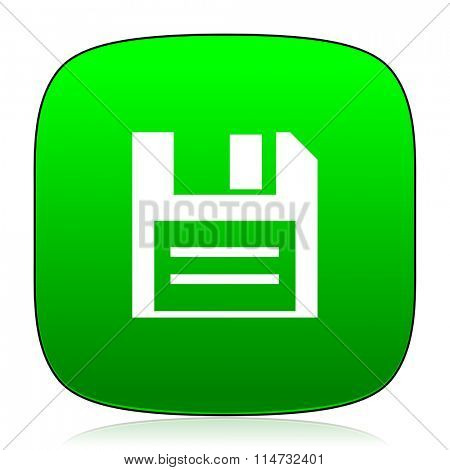 disk green icon for web and mobile app