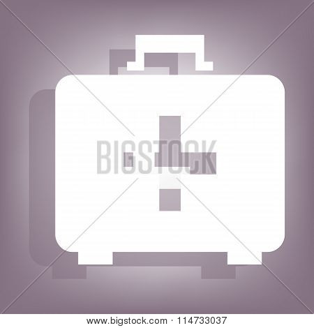 First aid box icon with shadow