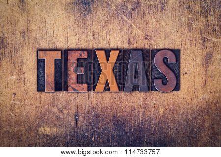 Texas Concept Wooden Letterpress Type