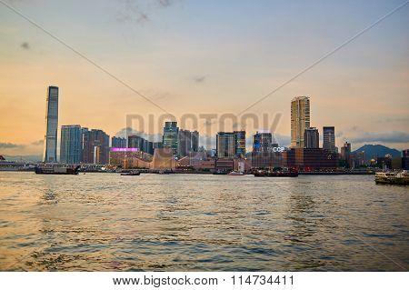 HONG KONG - MAY 09, 2012: view of Kowloon. Kowloon is an urban area in Hong Kong comprising the Kowloon Peninsula and New Kowloon.