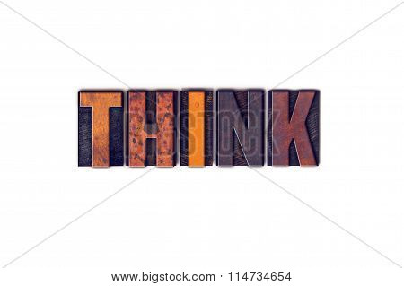 Think Concept Isolated Letterpress Type