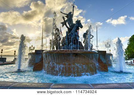 Raices Fountain In Old San Juan