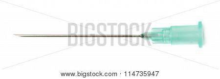 Medical syringe needle isolated