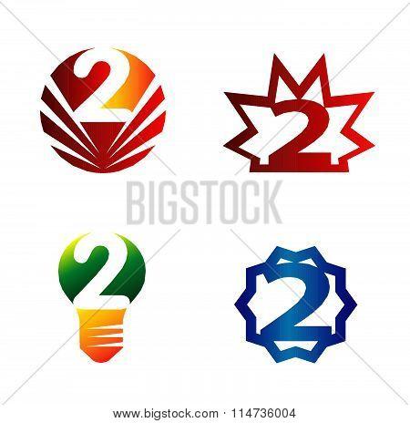 Number 2 logo set