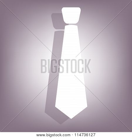 Necktie icon with shadow