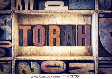 Torah Concept Letterpress Type