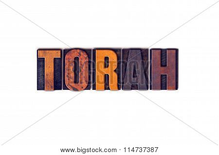 Torah Concept Isolated Letterpress Type