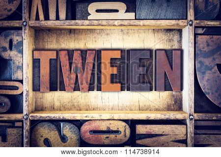 Tween Concept Letterpress Type