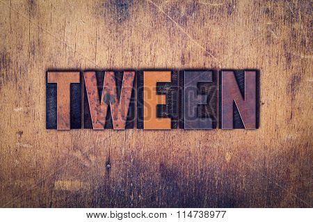 Tween Concept Wooden Letterpress Type