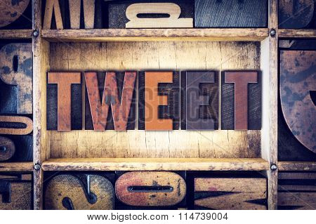 Tweet Concept Letterpress Type