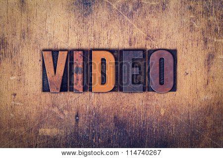 Video Concept Wooden Letterpress Type