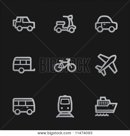 Transport  Web Icons, Grey Mobile Style