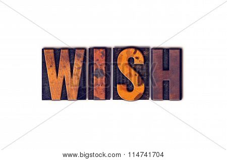 Wish Concept Isolated Letterpress Type
