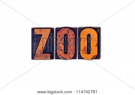 Zoo Concept Isolated Letterpress Type