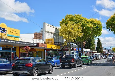 Town Of Motueka In Tasman Bay, New Zealand