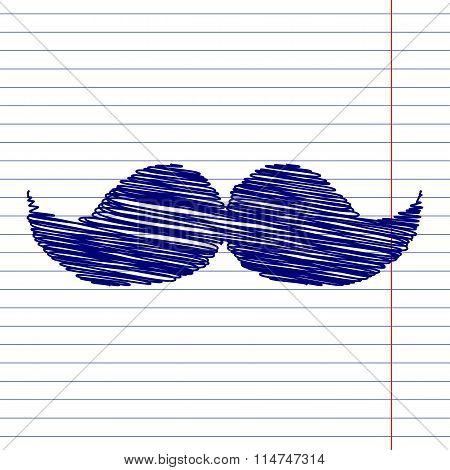 Moustache sign illustration