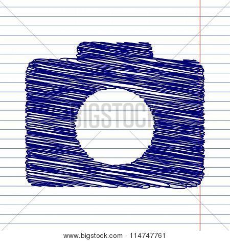 Camera sign illustration