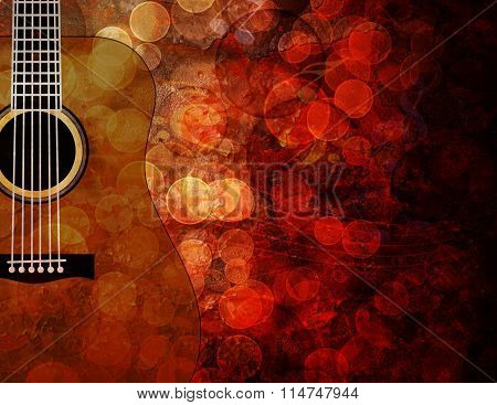 Guitar Grunge Background Illustration