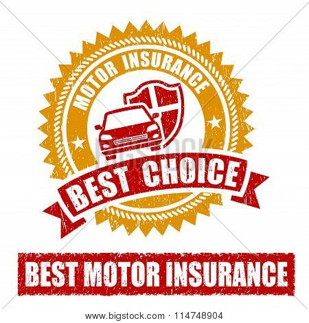Motor Insurance Warranty Rubber Stamp