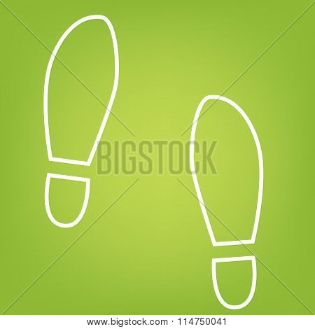 Imprint shoes line icon