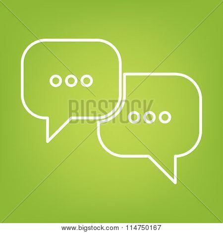 speech bubles line icon