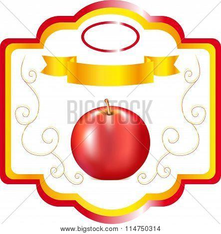 label for apple jam