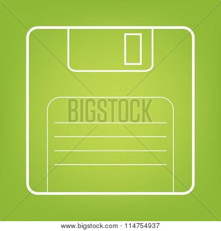 Floppy disk line icon