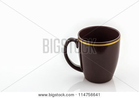 Brown Mug From Coffee.