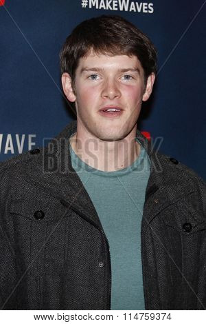 vLOS ANGELES - JAN 14:  Alex MacNicoll at the The 5th Wave Los Angeles Premiere at the Pacific Theatres At The Grove on January 14, 2016 in Los Angeles, CA