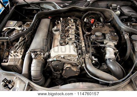 Open Car Engine
