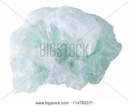 Fluorite (fluorspar) Mineral Stone Isolated