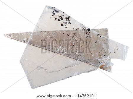 Natural Mineral Muscovite Mica Pieces Isolated