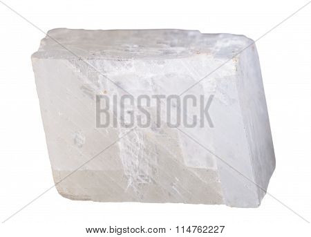 White Calcite Mineral Stone Isolated