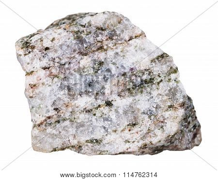 Apatite Mineral Stone Isolated On White