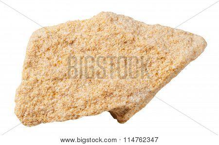 Sandstone (arenite) Mineral Stone Isolated