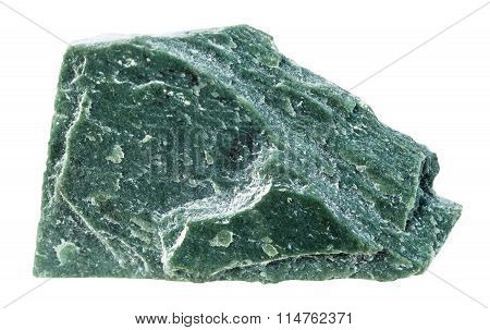 Phyllite Mineral Stone Isolated On White