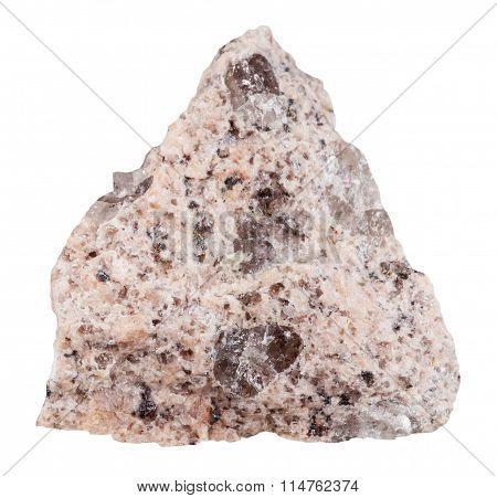 Specimen Of Granite Mineral Stone Isolated