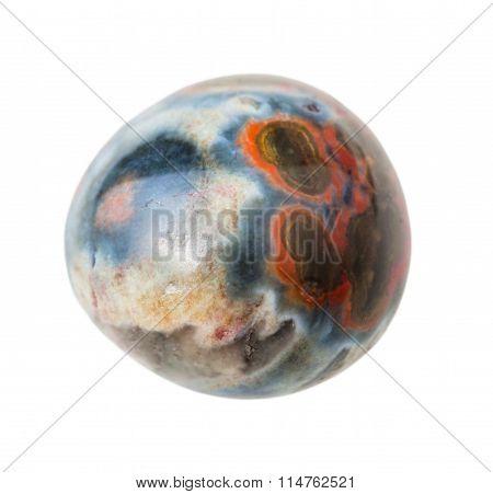 Ocean (orbicular) Jasper Gemstone Isolated