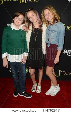 LOS ANGELES - JAN 14:  Gabe Eggerling, Sixx Orange, Isabella Acres at the Just Add Magic Amazon Premiere Screening at the ArcLight Hollywood Theaters on January 14, 2016 in Los Angeles, CA