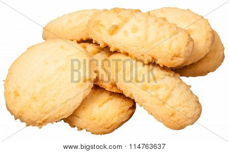 Sweet Butter Shortbread Biscuits Isolated
