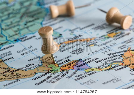 Belize On A Map