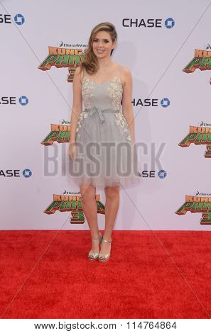 LOS ANGELES - JAN 16:  Carly Steel at the Kung Fu Panda 3 Premiere at the TCL Chinese Theater on January 16, 2016 in Los Angeles, CA