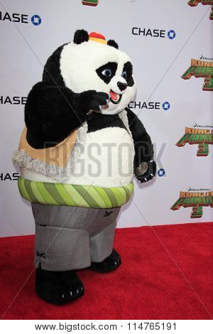 LOS ANGELES - JAN 16:  Animated Characters at the Kung Fu Panda 3 Premiere at the TCL Chinese Theater on January 16, 2016 in Los Angeles, CA
