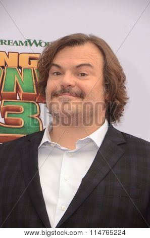LOS ANGELES - JAN 16:  Jack Black at the Kung Fu Panda 3 Premiere at the TCL Chinese Theater on January 16, 2016 in Los Angeles, CA