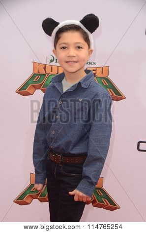 LOS ANGELES - JAN 16:  Steele Gagnon at the Kung Fu Panda 3 Premiere at the TCL Chinese Theater on January 16, 2016 in Los Angeles, CA